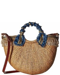 Sam Edelman Lianna Metallic Fringed Straw Tote Tote Handbags