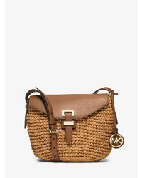 Michl kors naomi medium woven straw crossbody medium 706183