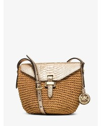 Michl kors naomi medium woven straw crossbody medium 706187