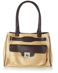 French connection holly hock raffia tote bag medium 74013