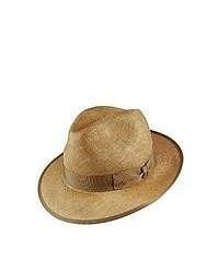 Borsalino Hats Borsalino Sisal Straw Fedora Hat Wheat