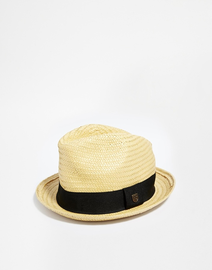 3660dd026a24e ... Tan Straw Hats Brixton Castor Straw Fedora Hat ...