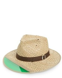 Brixton Hunter Straw Fedora Brown