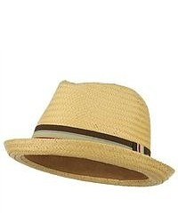 Jeanne Simmons Paper Woven Straw Fedora Natural W19s59b