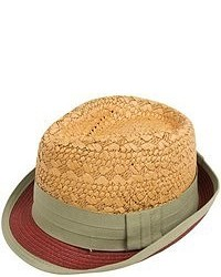 Mad Bomber Urban Straw Fedora Hat