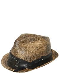 Möve Studded Hatband Vintage Effect Straw Hat