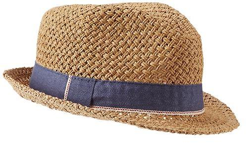 Open Weave Fedora. Tan Straw Hat by Gap 90a300586fe