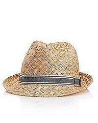 Hugo Boss Sefio Straw Fedora Hat