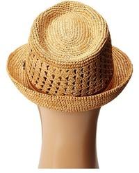 594410349bba9 ... Tommy Bahama Vent Crochet Raffia Fedora Fedora Hats