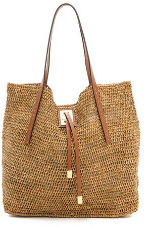 Straw Tote Bags Michael Kors Michl Collection Miranda Raffia Large