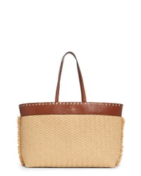 Valentino Garavani Small Raffia Leather Tote