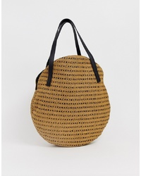 Vero Moda Straw Circle Tote Bag