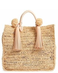 Straw travel tote medium 6988501