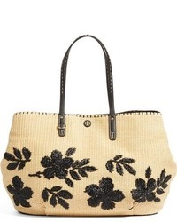 Tory Burch Kerrington Straw Tote Beige