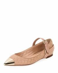 Valentino Garavani Cap Toe Studded Ballet Flat Poudre