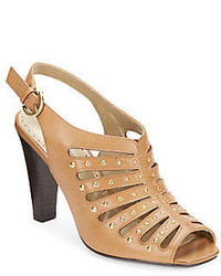 Adrienne vittadini gentri studded leather pumps medium 390992