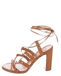 Valentino Rockstud Lace Up Sandals