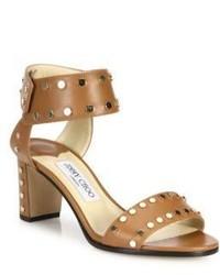 Jimmy Choo Veto 65 Studded Leather Block Heel Sandals