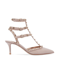 Valentino Garavani The Rockstud Patent Leather Pumps