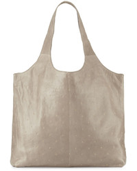 Lauren Merkin Scarlett Studded Leather Tote Bag Taupe