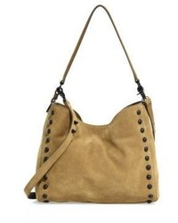 Loeffler Randall Sienna Studded Suede Shoulder Bag