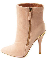 Charlotte Russe Anne Michelle Gold Embellished High Heel Booties