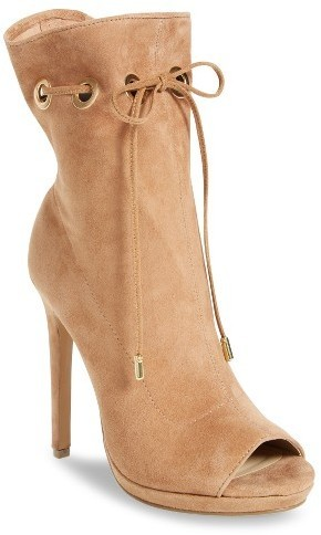 b2dad1d7476 ... Suede Ankle Boots Steve Madden Cavalier Open Toe Bootie ...