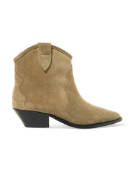 e80edd54210beb Women s Tan Suede Ankle Boots by Isabel Marant