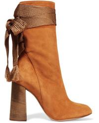 Chloé Harper Suede Ankle Boots Tan