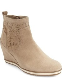 Illusion perforated wedge bootie medium 624415