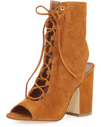 Nelly suede lace up bootie camel medium 949755