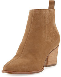 Skyscraper suede 65mm bootie tan medium 647060