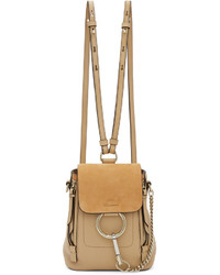 Beige mini faye backpack medium 5081554