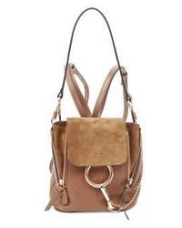 Chloé Chloe Medium Faye Leather Suede Backpack