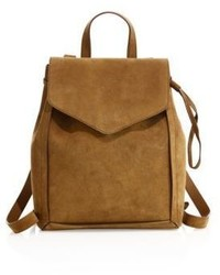 Loeffler Randall Sienna Mini Suede Drawstring Backpack