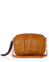 River Island Tan Brown Faux Suede Cross Body Ri Handbag