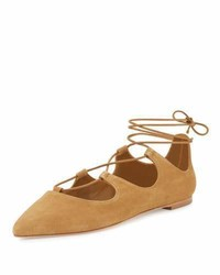 Ambra suede lace up ballerina flat sienna medium 3729448