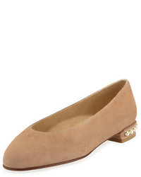 Chicpearl suede ballerina flat medium 3729486