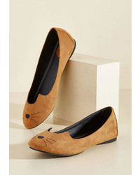 T.U.K. Mew And Me Forever Flat In Cognac In 8 Flat 0 1 By From Modcloth