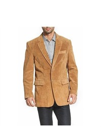 BGSD Classic Two Button Suede Leather Blazer