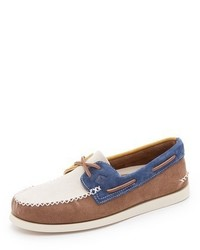 Ao 2 eye wedge suede boat shoes medium 421109