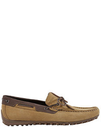 Geox Snake Suede Boat Shoes