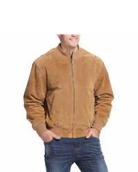 Asstd National Brand Tanker Style Suede Bomber Jacket Tall