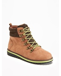 Old Navy Sueded Hiking Boots For Boys