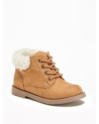 Old Navy Sueded Sherpa Trim Boots For Toddler Boys