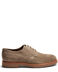 Brunello Cucinelli Lace Up Suede Brogues