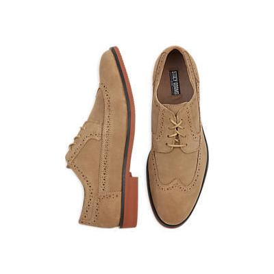 Stacy Adams Dalton Tan Suede Wingtip Loafers Where To
