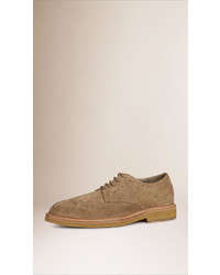 Burberry Suede Wingtip Brogues