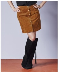 Simply be a line suede skirt medium 373903
