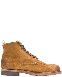 Tan Suede Casual Boots